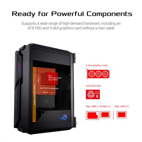 ASUS Republic of Gamers Z11 Mini-ITX/DTX RGB Mid-Tower Case