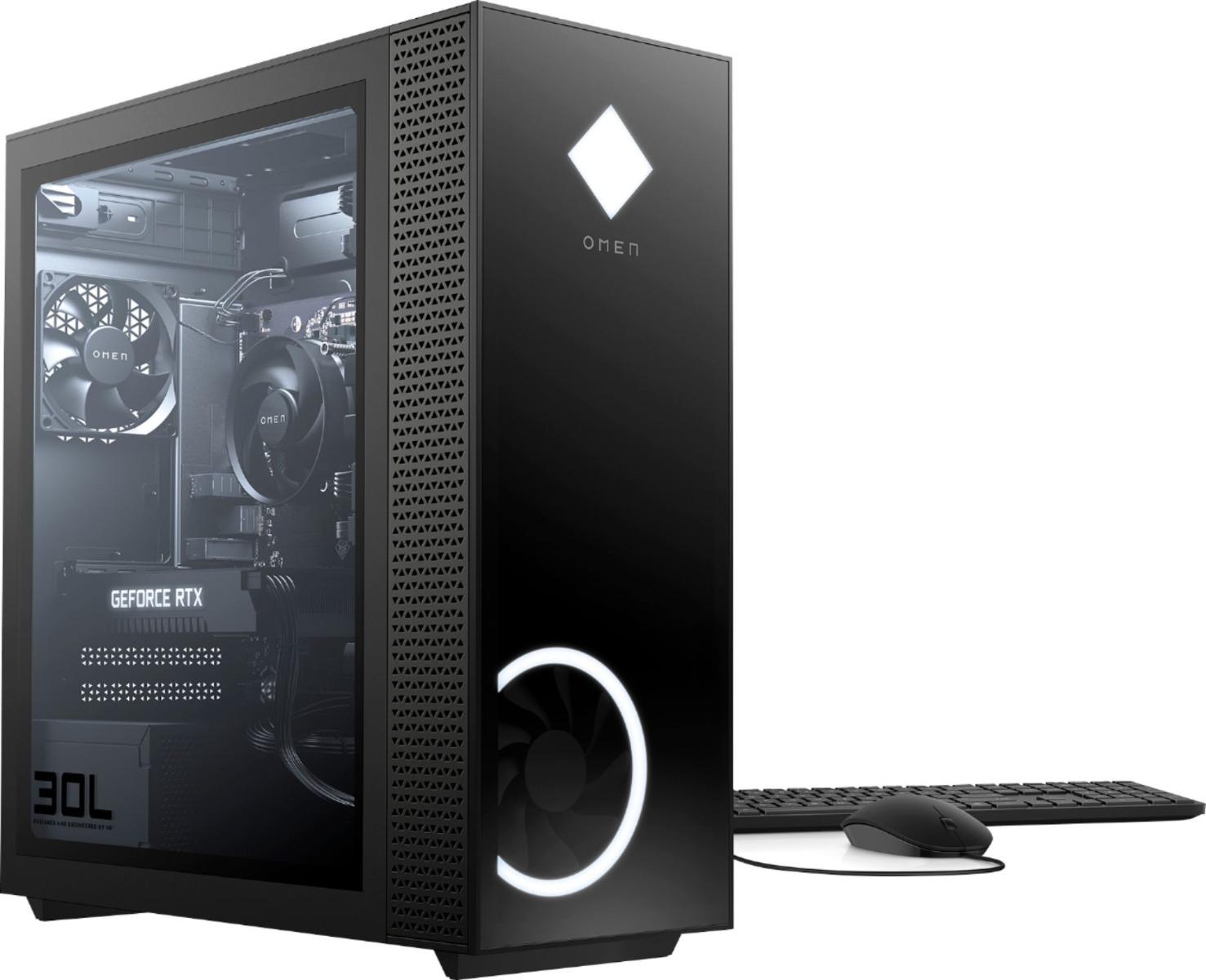 HP OMEN - Gaming Desktop - AMD Ryzen 7-Series - 3700X - 16GB Memory - NVIDIA GeForce RTX 2060 - 1TB HDD + 256GB SSD - Black