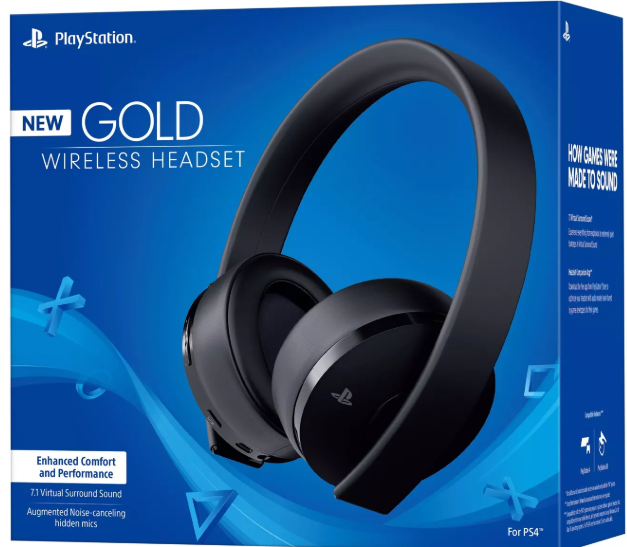 PlayStation Gold Wireless Gaming Headset