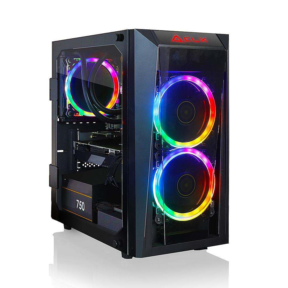 CLX SET Gaming Desktop - Intel Core i7 10700 - 16GB Memory - NVIDIA GeForce RTX 3070 - 240GB SSD + 2TB HDD - Black