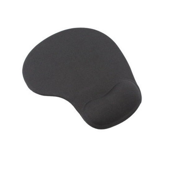 Comfortable Silicone Gel Lycra Fabric Mouse Pad Computing Wrist Rest-Black