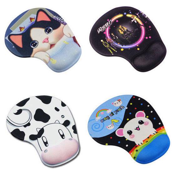 Desktop Silicone Gel Wrist Mouse Pad Ultra Slim Cloth Cartoon Dairy Cow