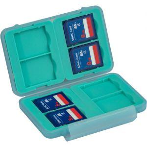 Ruggard LEDA Memory Card Case for 8 SD Cards (Blue)