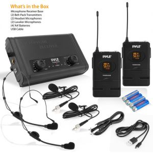 Pyle Pro PDWM2880B 2-Person Wireless Combo Microphone System