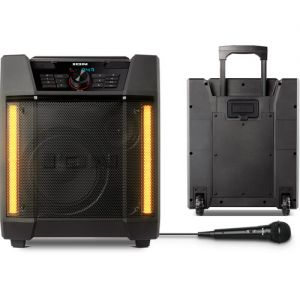 ION Audio Adventurer Weather-Resistant Rechargeable Speaker System with Bluetooth, Light Bars & Microphone