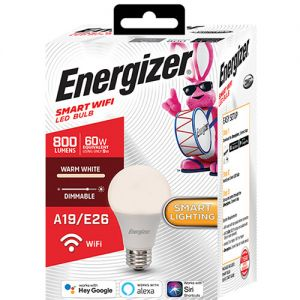 Energizer A19 Smart LED Bulb (Warm White)