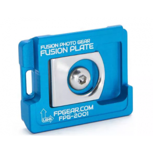 Fusion Photo Gear FPG-2001 Manfrotto 200PL/RC2 Compatible Fusion Plate, Blue