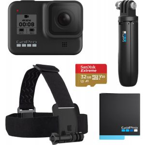 GoPro - HERO8 Live Streaming Action Camera Holiday Bundle - Black