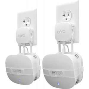 Mount Genie - The Easy Outlet Mount for eero Mesh WiFi (2nd Gen 2019) (2-Pack) - White