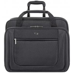 Solo Rolling Laptop Bag - Black