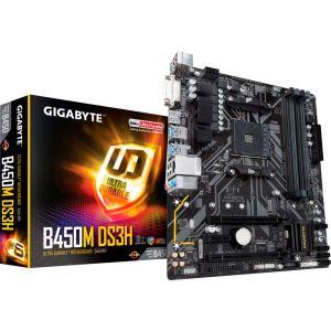 GIGABYTE - B450M DS3H (Socket AM4) USB 3.1 Gen 1 AMD Motherboard with LED Lighting