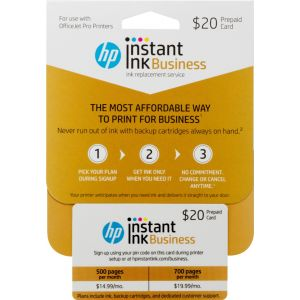 HP - Instant Ink 500/700-Page Monthly Plan