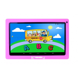 """LINSAY 10.1"""" Kids Funny Tablet Quad Core Bundle with Pink Kids Defender Case Android 9.0 PIE 2GB Ram 16GB Storage"""