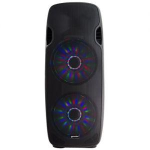 "Gemini - Dual 15"" 2000W 2-Way PA Speaker - Black"