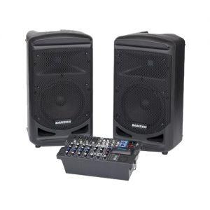 Samson - Expedition 800W Bluetooth Portable PA Speaker System - Black