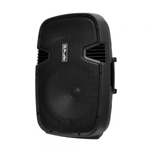 PYLE - PylePro Portable Bluetooth PA Loudspeaker Molded Cabinet Speaker System - Black