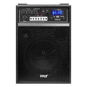 PYLE - PylePro 300W Bluetooth Battery Powered PA Speaker System - Black