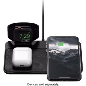Nomad - Wireless Charging Pad for iPhone and Apple Watch - Black