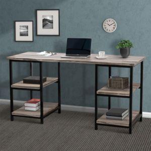 """59"""" Desk with Storage Shelves, Office Desk, Gaming Desk"""