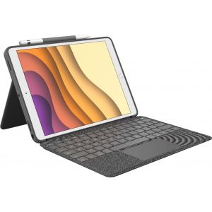 "Logitech - Combo Touch Keyboard Case for Apple® iPad® Air 10.5"" (3rd Gen 2019) and iPad® Pro 10.5"" - Graphite"