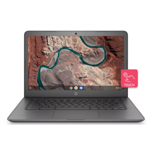 """HP 14"""" Touch Chromebook 9+ hour battery life 3.40lbs 32GB Storage (14-DB0025NR) Chalkboard Gray"""