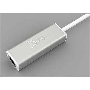 j5create - USB 3.0-to-Gigabit Ethernet Adapter - Gray