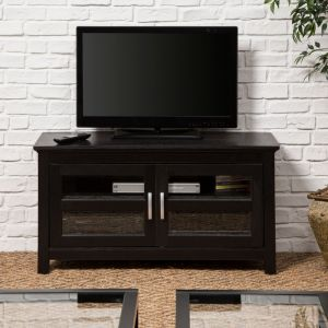 Walker Edison - Double Door TV Stand for Most Flat-Panel TV's up to 48