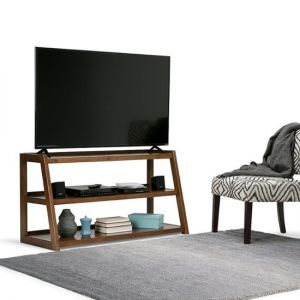 """Simpli Home - Sawhorse TV Stand for Most TVs Up to 53"""""""
