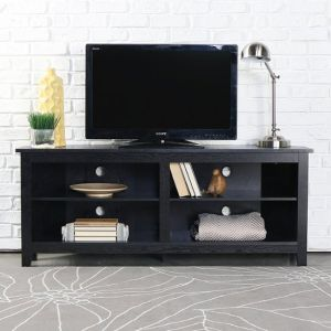 """Walker Edison - Corner Open Shelf TV Stand for Most Flat-Panel TV's up to 60"""""""