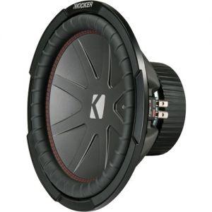"""KICKER - CompR 12"""" Dual-Voice-Coil 2-Ohm Subwoofer - Black"""