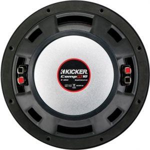 """KICKER - CompR 10"""" Dual-Voice-Coil 2-Ohm Subwoofer - Black"""