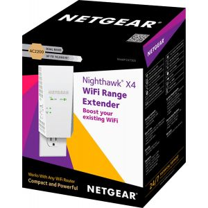 NETGEAR - Nighthawk X4 AC2200 Dual-Band Wi-Fi Range Extender - White