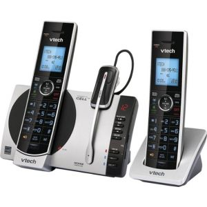 AT&T - 2 Handset Connect to Cell Answering System with Unsurpassed Range - Black