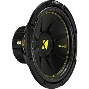 """KICKER - CompC 12"""" Single-Voice-Coil 4-Ohm Subwoofer - Black"""