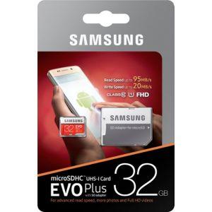 Samsung -1 EVO Plus 32GB microSDHC UHS-I Memory Card