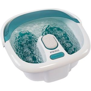 HoMedics - Bubble Foot Spa with Heat Boost Power - White/Gray