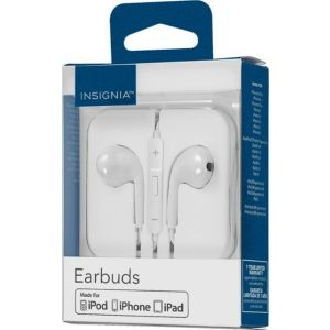 Insignia™ - Wired Earbud Headphones - Off-white