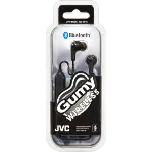 JVC - HA FX9BT Gumy Wireless In-Ear Headphones (iOS) - Black