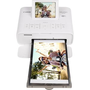 Package - Canon - SELPHY CP1300 Wireless Compact Photo Printer - White and Canon RP-108 Color Ink and Paper Set - Multicolor