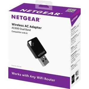 NETGEAR - AC600 Dual-Band WiFi USB Mini Adapter - Black