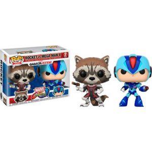 Funko - Pop! Games Marvel vs. Capcom: Rocket vs. Mega Man X