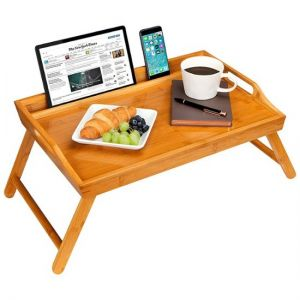 """LapGear - Bamboo Media Bed Tray for 17.3"""" Laptop or Tablet - Natural"""