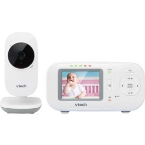 "VTech - Video Baby Monitor with 2.4"" Screen - White"