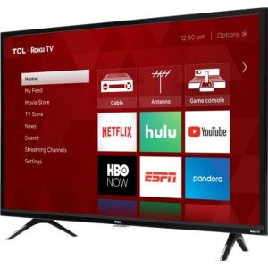 "TCL - 32"" Class - LED - 3-Series - 720p - Smart - HDTV Roku TV"