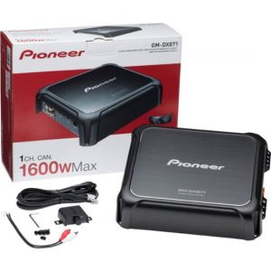 Pioneer - 1600W Class D Mono Amplifier with Variable-Low Pass Filter - Brushed Gunmetal