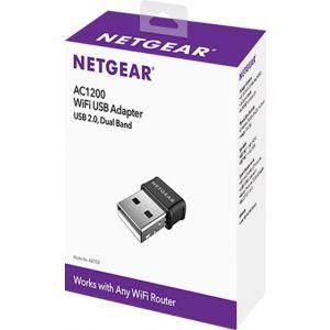 NETGEAR - Dual-Band Wireless-AC USB Network Adapter - Black