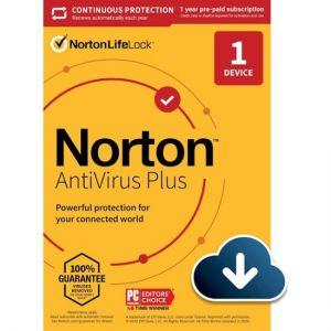 Norton - AntiVirus Plus (1 Device) (1-Year Subscription with Auto Renewal)
