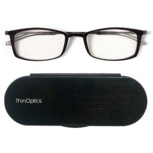 ThinOptics - Brooklyn 2.5 Strength Glasses with Milano Case