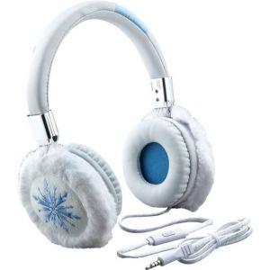 eKids - Frozen II Wired On-Ear Headphones - White/Light Blue