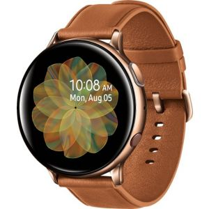 Samsung - Galaxy Watch Active2 Smartwatch 44mm Stainless Steel LTE (Unlocked) - Gold